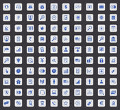 100 B2B Ikonensatz, Quadrat Lizenzfreies Stockfoto
