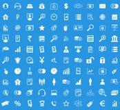 100 B2B ikony set Obraz Royalty Free