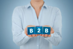 B2B interempresarial Imágenes de archivo libres de regalías