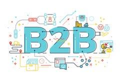 B2B: Interempresarial, ilustração da palavra ilustração royalty free