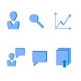 B2b kartoteki ikony 3d Zdjęcie Royalty Free