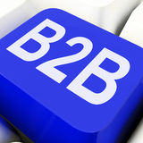 B2b Key Means Business Trade Or Commerce Stock Photography