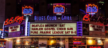 B.B. King Blues Restaurant Royalty Free Stock Photography