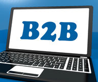 B2b On Laptop Shows Trading And Commerce Online Stock Photos