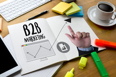 B2B Marketing Business To Business Marketing Company, B2B Busi 免版税库存图片