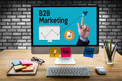 B2B Marketing Business To Business Marketing Company, B2B Busi Fotografia Stock Libera da Diritti