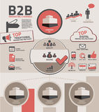 B2B Marketing Channels. Symbols and channels of business to business B2B marketing Stock Photo