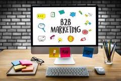 B2B Marketingowy biznes Biznes Marketing Firma, biznes Zdjęcia Royalty Free