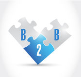 B2b puzzle pieces illustration design Royalty Free Stock Photography