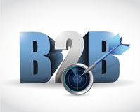B2b radar target illustration design Stock Photos