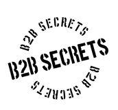 B2b Secrets rubber stamp. Grunge design with dust scratches. Effects can be easily removed for a clean, crisp look. Color is easily changed Stock Photos