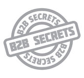 B2b Secrets rubber stamp Stock Photo