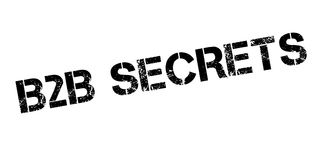 B2b Secrets rubber stamp Royalty Free Stock Images