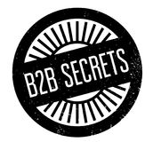 B2b Secrets rubber stamp. Grunge design with dust scratches. Effects can be easily removed for a clean, crisp look. Color is easily changed Stock Photography