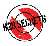 B2b Secrets rubber stamp. Grunge design with dust scratches. Effects can be easily removed for a clean, crisp look. Color is easily changed Stock Images