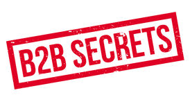 B2b Secrets rubber stamp. Grunge design with dust scratches. Effects can be easily removed for a clean, crisp look. Color is easily changed Royalty Free Stock Images