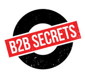 B2b Secrets rubber stamp. Grunge design with dust scratches. Effects can be easily removed for a clean, crisp look. Color is easily changed Royalty Free Stock Image