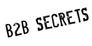 B2b Secrets rubber stamp Royalty Free Stock Photography