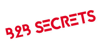 B2b Secrets rubber stamp Stock Images