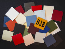 B2B sign - Business or Office - write your own text. B2B sign - Business or Office post its - write your own text stock photography