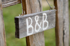 B&B Signboard Stock Images