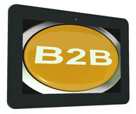 B2b Tablet Means Business Trade Or Deal Stock Photography
