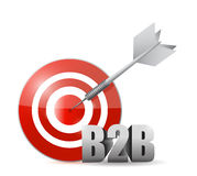 B2b target illustration design. Over a white background Royalty Free Stock Photography