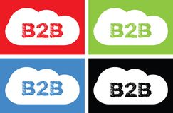 B2B text, on cloud bubble sign. Royalty Free Stock Photo