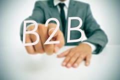 B2B, tra imprese Fotografia Stock