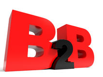 B2B volume letters on white background. Royalty Free Stock Photos