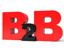 B2B volume letters on white background. Stock Photography