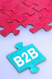 B2B word Royalty Free Stock Photos
