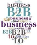 B2B Zaken aan zaken Royalty-vrije Stock Foto's