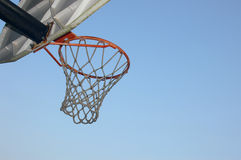 B-ball. Basketball hoop royalty free stock photo