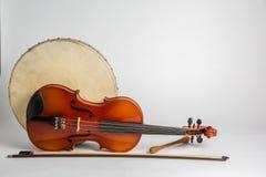 Bęben i skrzypki Fotografia Royalty Free
