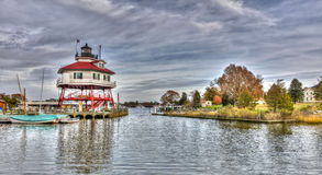 Bębenu punktu latarnia morska w Maryland Zdjęcia Stock