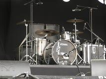 Bębenu zestaw na scenie w Brugge Obraz Stock