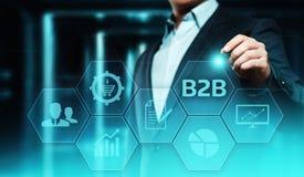 B2B Biznes Firma handlu technologii Marketingowy pojęcie fotografia stock