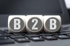 B2B biznesu sześciany fotografia royalty free