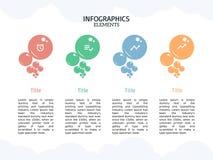 Bąbla Infographic szablon i mądrze biznes royalty ilustracja