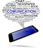 Bąbla telefon komórkowy & rozmowa Zdjęcie Stock