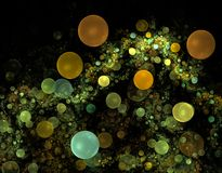 bąbli fractals Obraz Royalty Free