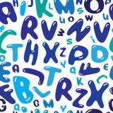 Bąbli listów ilustracyjny bezszwowy wektor tupocze Fotografia Stock