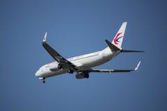B-7590 Boeing 737-800 de ligne aérienne orientale de la Chine Photographie stock