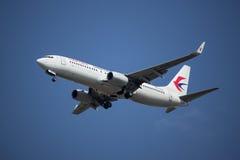 B-7590 Boeing 737-800 della linea aerea orientale della Cina Fotografie Stock Libere da Diritti