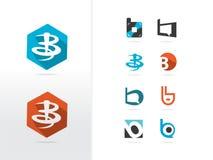 B-bokstav Logo Design Arkivbild