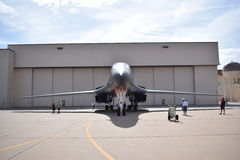 B1 bomber. Air show Stock Images