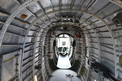 B-24 Bomber Belly. The interior of a Consolidated B-24 Liberator bomber Stock Images