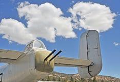 B-25 bombowiec: Ogonu armatnika pozycja Obraz Royalty Free