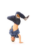 B-boy in dance. Cool b-boy in dance. isolated on white Stock Photography